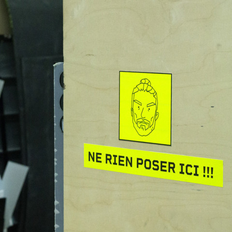 Machine's signage